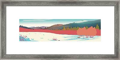 Kancamagus Overlook Framed Print by Marian Federspiel