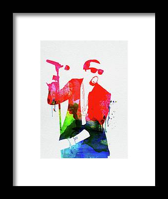 Kanye West Poster Framed Prints