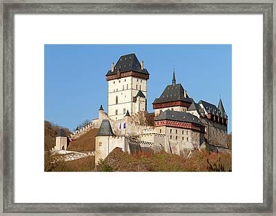 Karlstejn Castle, Czech Republic Framed Print by Rusm