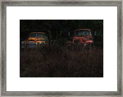Karly's Trucks Framed Print