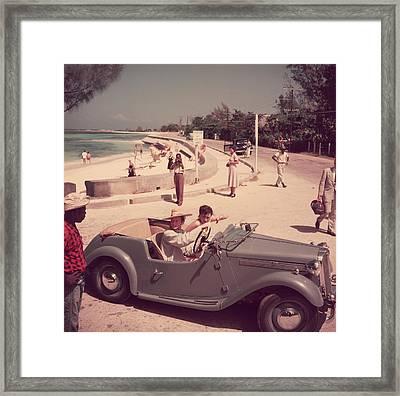 Katharine Hepburn Framed Print by Slim Aarons