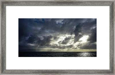 Kauai Coast In Stormy Weather Framed Print