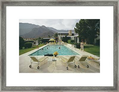 Kaufmann Desert House Framed Print by Slim Aarons