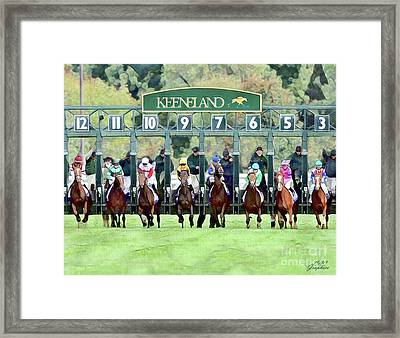 Keeneland Starting Gate Framed Print