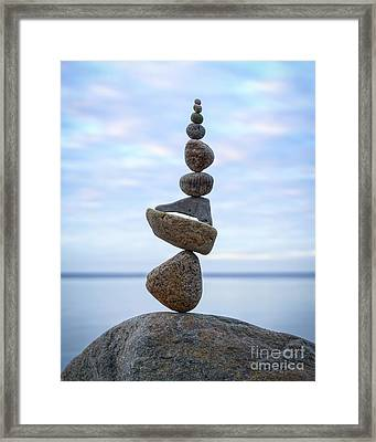 Keep The Balance Framed Print