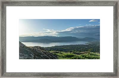 Kelowna And Okanagan Lake Framed Print