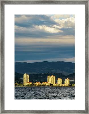 Kelowna At Sunset Framed Print