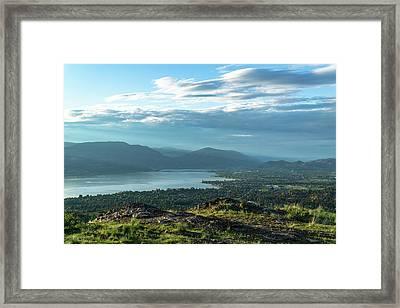 Kelowna From Kuipers Peak Framed Print