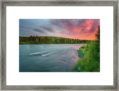 Kenai River Alaska Sunset Framed Print