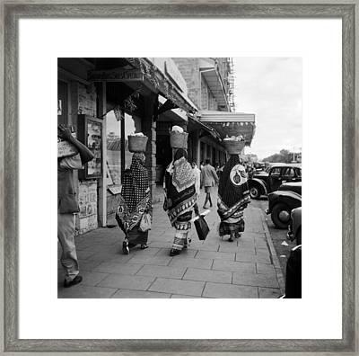 Kenyan Women Framed Print by Three Lions