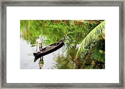 Kerala Backwaters Framed Print by Gopan G Nair