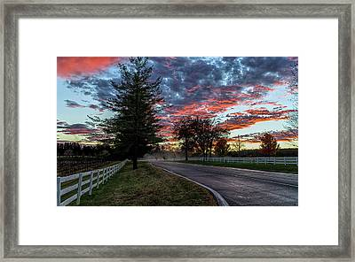 Framed Print featuring the photograph Keswick Sunset by Lori Coleman