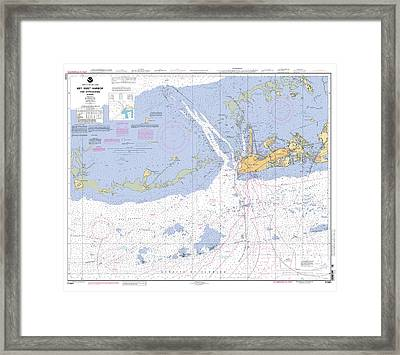 Key West Harbor And Approaches, Noaa Chart 11441 Framed Print