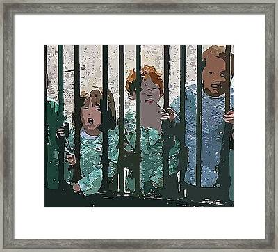 Kids At Play Framed Print