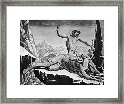 Killing The Minotaur Framed Print by Hulton Archive