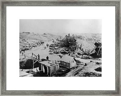 Kimberley Mine Framed Print by Hulton Archive