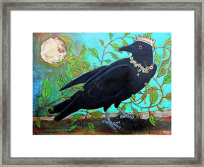 King Crow Framed Print by Blenda Studio