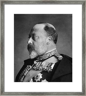 King Edward Vii Framed Print by General Photographic Agency
