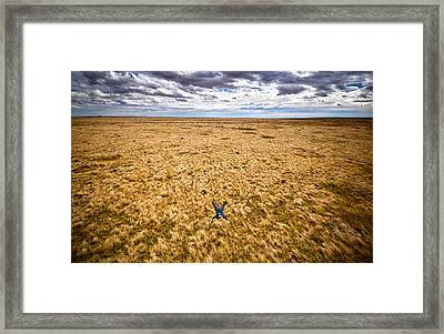 Framed Print featuring the photograph King Of The Hill by Carl Young