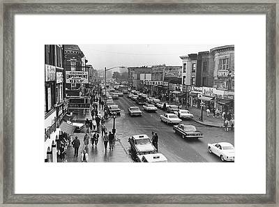 Kings Highway & East 15th St., Early Framed Print by Fred W. Mcdarrah