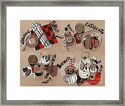 Framed Print featuring the drawing Kitchen by Ariadna De Raadt
