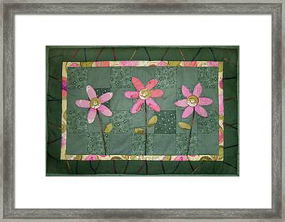 Kiwi Flowers Framed Print