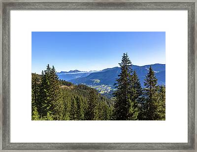 Framed Print featuring the photograph Kleinwalsertal, Austria by Andreas Levi