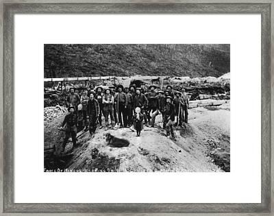 Klondike Miners Framed Print by Hulton Archive