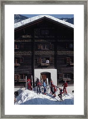 Klosters Florin House Framed Print by Slim Aarons