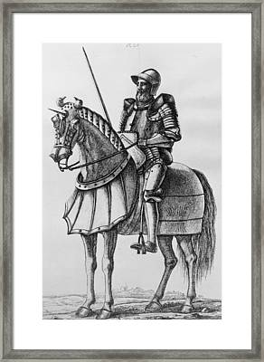 Knight In Armour Framed Print by Hulton Archive