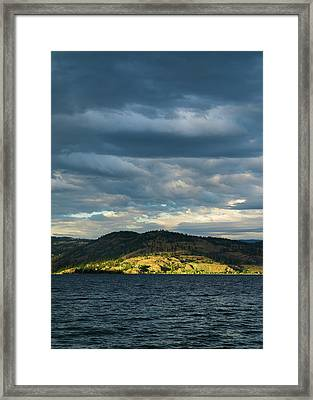 Knox Mountain At Sunset Framed Print