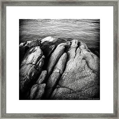 Ko Samet Rocks In Black Framed Print