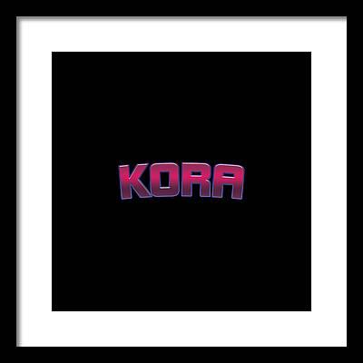 Kora Framed Prints