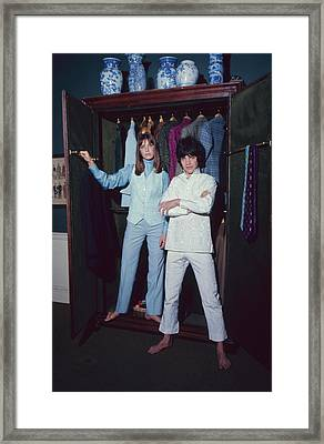 L-r Actress Jane Birkin And Pop-singer Framed Print by Bill Ray