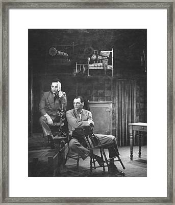 L-r Director Elia Kazan And Playwright Framed Print by W. Eugene Smith