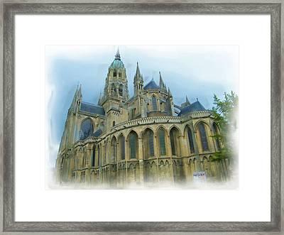 La Cathedrale De Bayeux Framed Print
