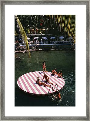 La Concha Beach Club Framed Print by Slim Aarons