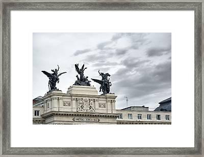 La Gloria Y Los Pegasos Sculptures Framed Print