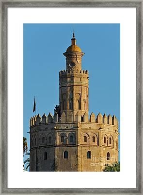 La Torre De Oro Detail. Seville Framed Print