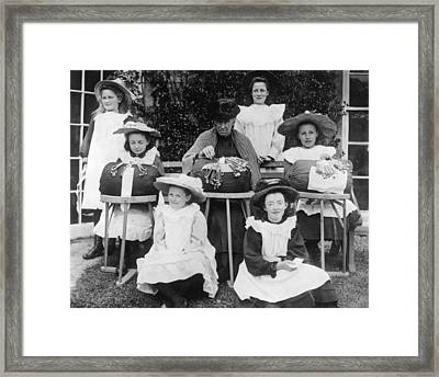 Lace Makers Framed Print by Topical Press Agency