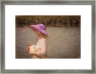 Framed Print featuring the digital art Lady In Pink Hat by Bill Posner
