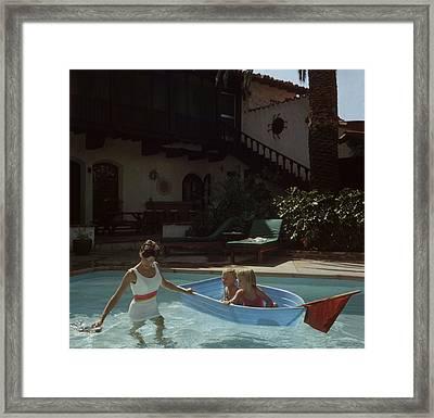 Laguna Beach Home Framed Print by Slim Aarons
