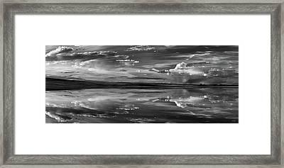 Lake Abert 11 Black And White Framed Print by Leland D Howard