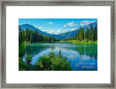 Lake At Banff Indian Trading Post Framed Print