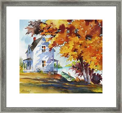 Lake House Framed Print by Art Scholz