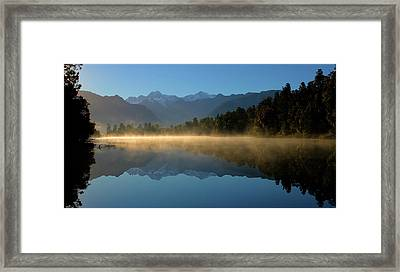 Lake Matheson Morning Framed Print
