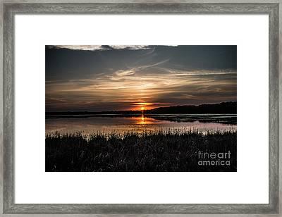 Lake Orrock Sunset Framed Print