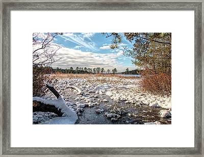 Framed Print featuring the photograph Lake Oswego After The Snow  by Kristia Adams
