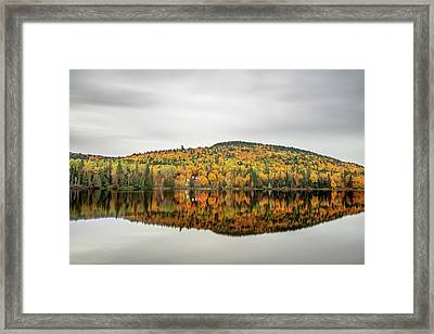 Framed Print featuring the photograph Lake Shore House In Autumn by Pierre Leclerc Photography