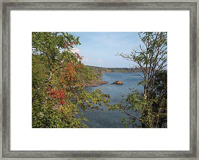 Lake Superior Autumn Framed Print